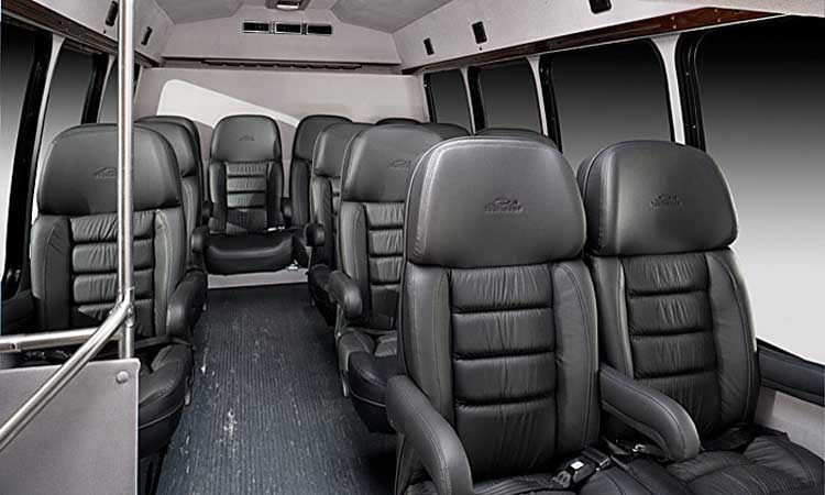 Houston Limousine Rental - 18 Passengers Corporate Limo Bus - Inside